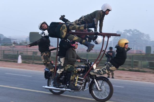 crpf bikers
