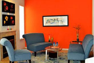 rumah minimalis dengan warna cat ruang tamu 2 warna