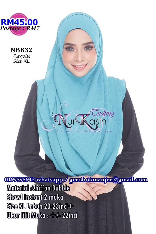 SHAWL INSTANT BUBBLE NADIA NURKASIH SAIZ XL