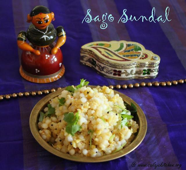 images of Sago Sundal / Javvarisi Sundal / White Pearl Sago Sundal / Sabudhana Sundal