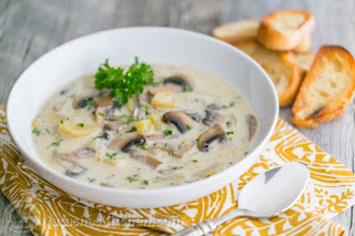 Simple easy quick best and healthy homemade mushroom soup recipe