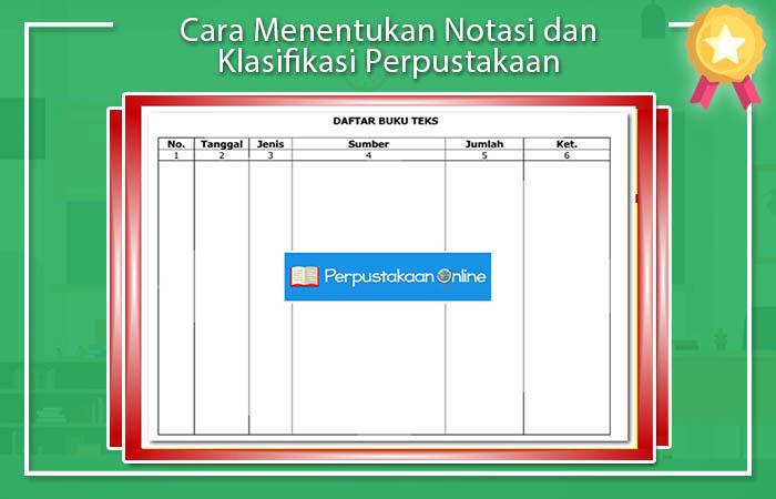 Cara Menentukan Notasi dan Klasifikasi Perpustakaan