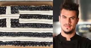 Ο Άκης Πετρετζίκης έφτιαξε γιγαντιαίο γλυκό με την Ελληνική σημαία για την 28η Οκτωβρίου και μας λέει την συνταγή