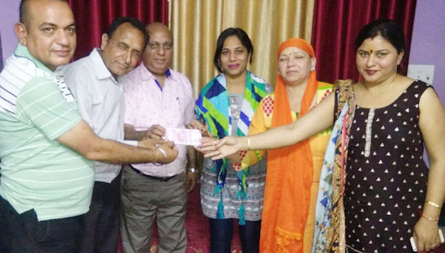 Sai Nukkamak Group donated Rs 2 lakh for construction of temple in Palwal