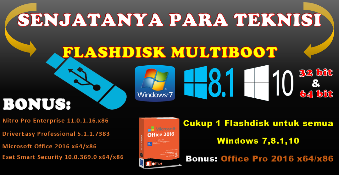 Flashdisk Multiboot All in One
