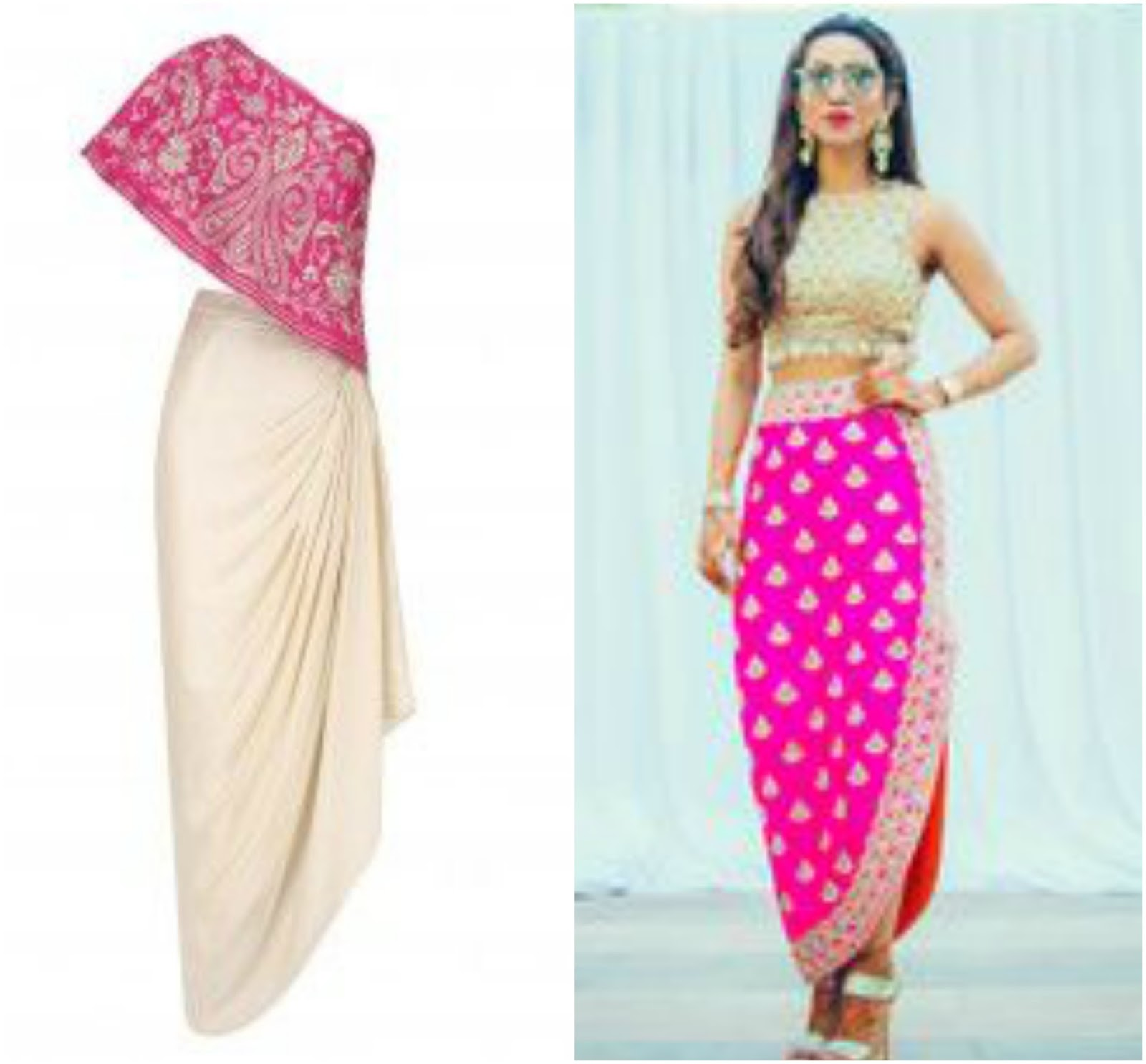 how to make dhoti pants from dupatta, 6 Ways To Reuse Your Dupatta, dhoti botttom from dupatta, make dhoti from old dupatta, how to restyle dupatta for outfits