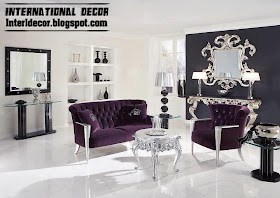 Interior Decor Idea International Living Room Ideas With Purple