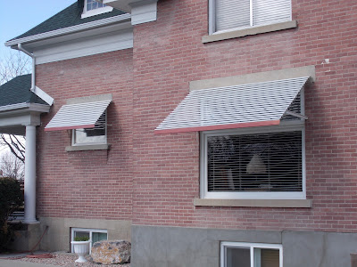 Residential Window Awnings (aluminum)