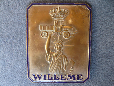 WILLEME truck lorry radiator emblem badge