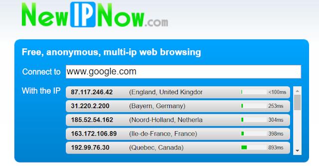 NewIPNow web proxy - بروكسي ويب