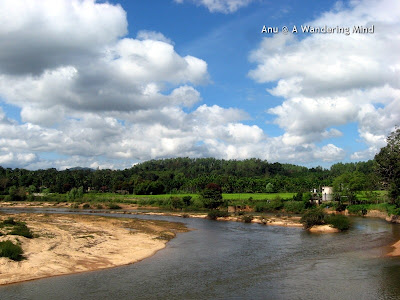 River Tunga flowing at the Sringeri math in Karnataka