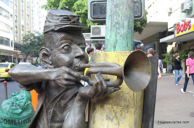 Corneteiro Lopes, herói da Independência da Bahia, em Ipanema, Rio de Janeiro