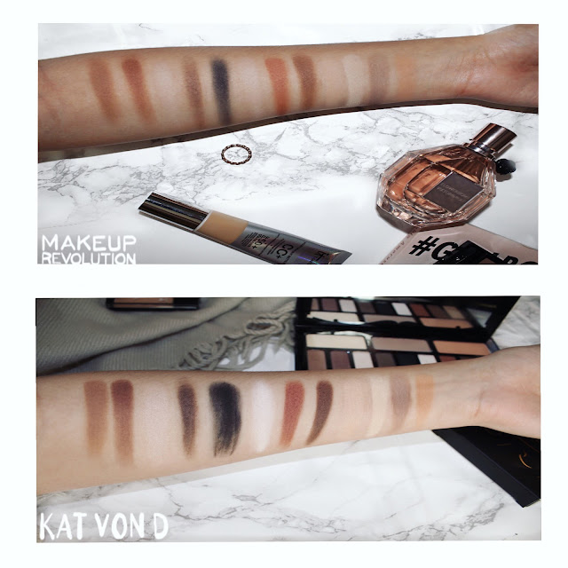 Makeup Revolution+ Kat Von D dupes