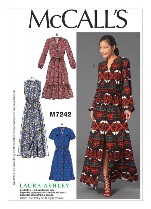 maxi dress pattern variations