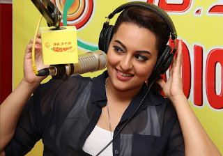 Sonakshi Sinha hot pics at radio mirchi