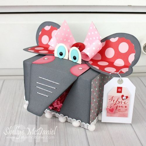 elephant valentine box from scrapbook and cards today