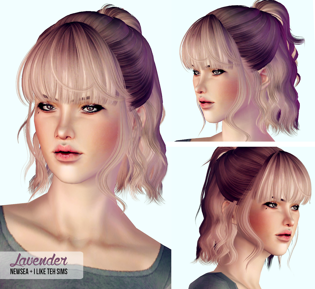 Sims 2 Hairstyles: My Sims 3 Blog: Hair Retextures By I Like Teh Sims