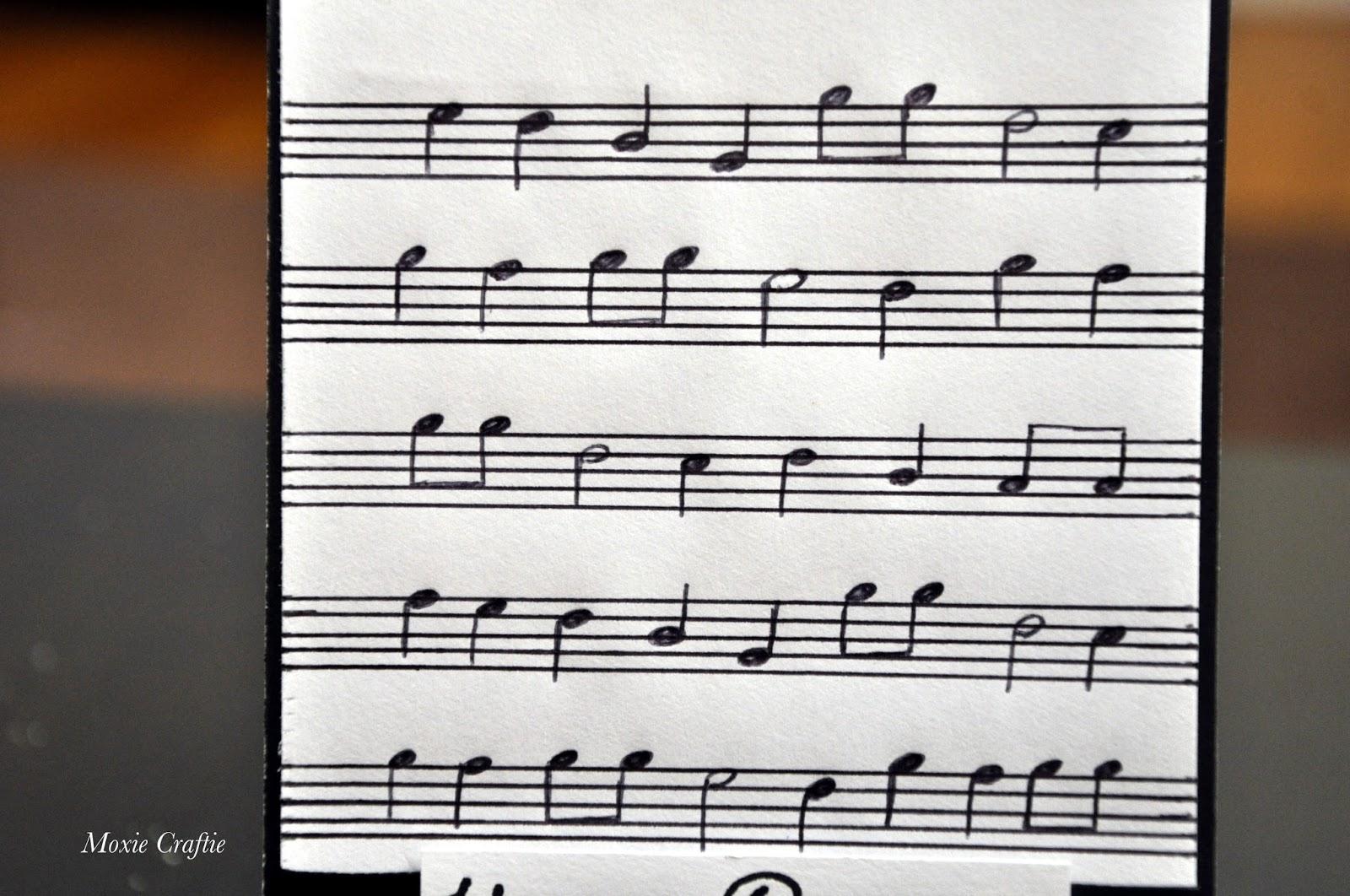 Moxie Craftie Musical Score Birthday