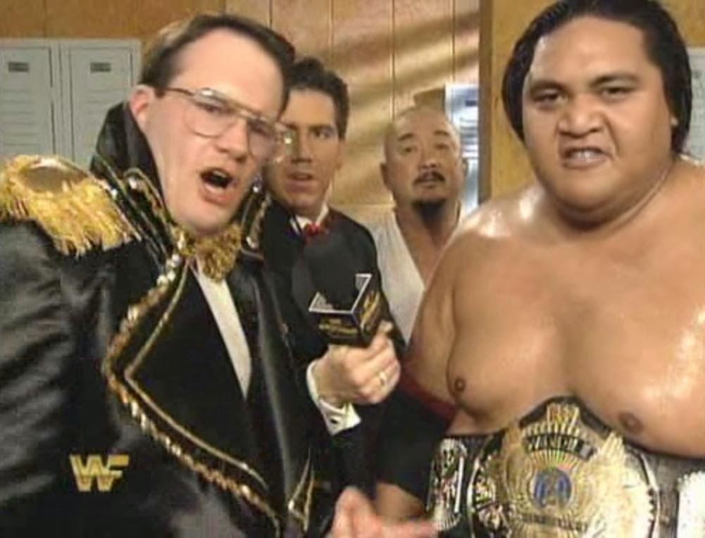 WWF / WWE: Wrestlemania 10 - Jim Cornette cut an awesome promo on behalf of WWF Champion Yokozuna
