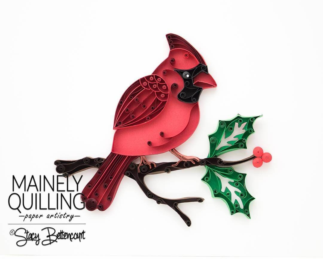 12-Northern-Cardinal-Stacy-Bettencourt-Quilling-Animals-and-Game-of-Thrones-www-designstack-co