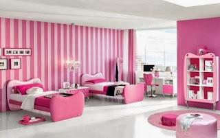 Cuarto rosa para dos hermanas