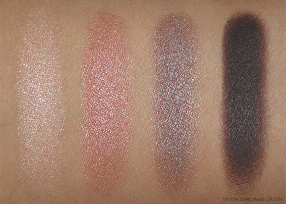 Clarins Swatches 4-Colour Eyeshadow Palette Fall 2016 01 Nude Review
