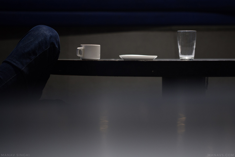 Cup, Plate, Glass and Indigo