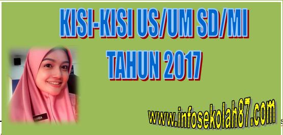 Kisi-Kisi Ujian Sekolah/Madrasah SD/MI 2017