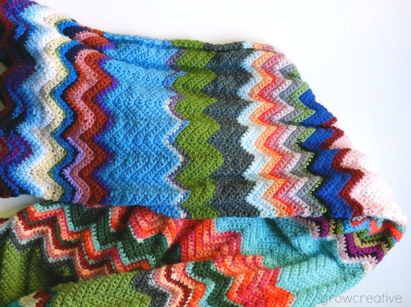 Ergahandmade Crochet Chevron Blanket Free Pattern