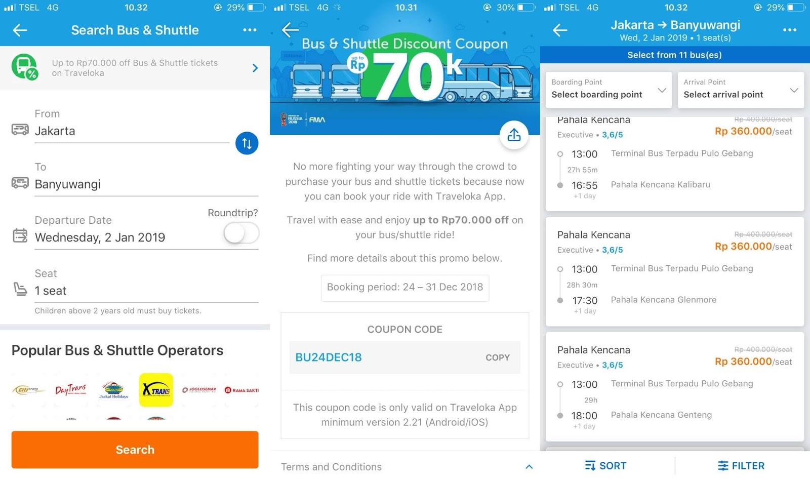 Cara Booking Tiket Bus Lewat Aplikasi Traveloka, Gampang dan