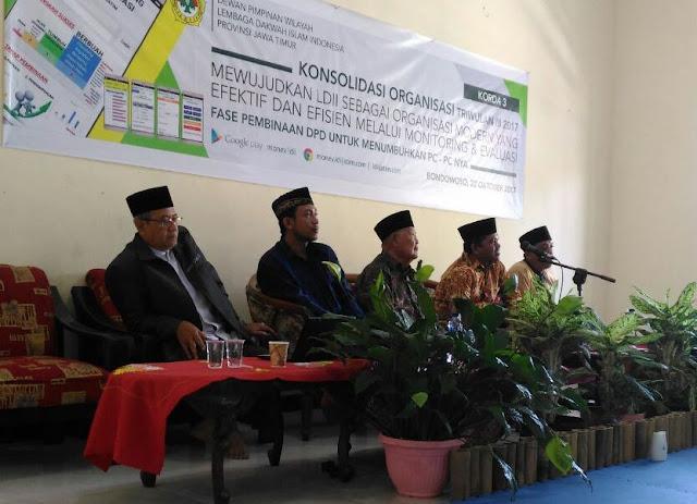 LDII Bondowoso Menggelar Acara Konsolidasi Monitoring Dan Evaluasi Antar Daerah