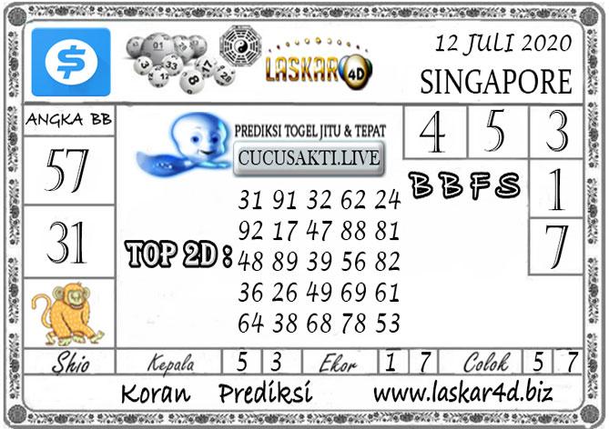 Prediksi Togel SINGAPORE LASKAR4D 12 JULI 2020