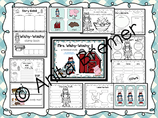 Mrs. Wishy-Washy book study companion activities to go with the book by Joy Cowley. Perfect for whole class guided reading, small groups, or individual study packs. Packed with lots of fun literacy ideas and guided reading activities. Common Core aligned. K-1 #bookstudies #bookstudy #picturebookactivities #kindergarten #1stgrade #literacy #guidedreading #mrswishywashy #bookcompanion #bookcompanions #1stgradereading #kindergartenreading