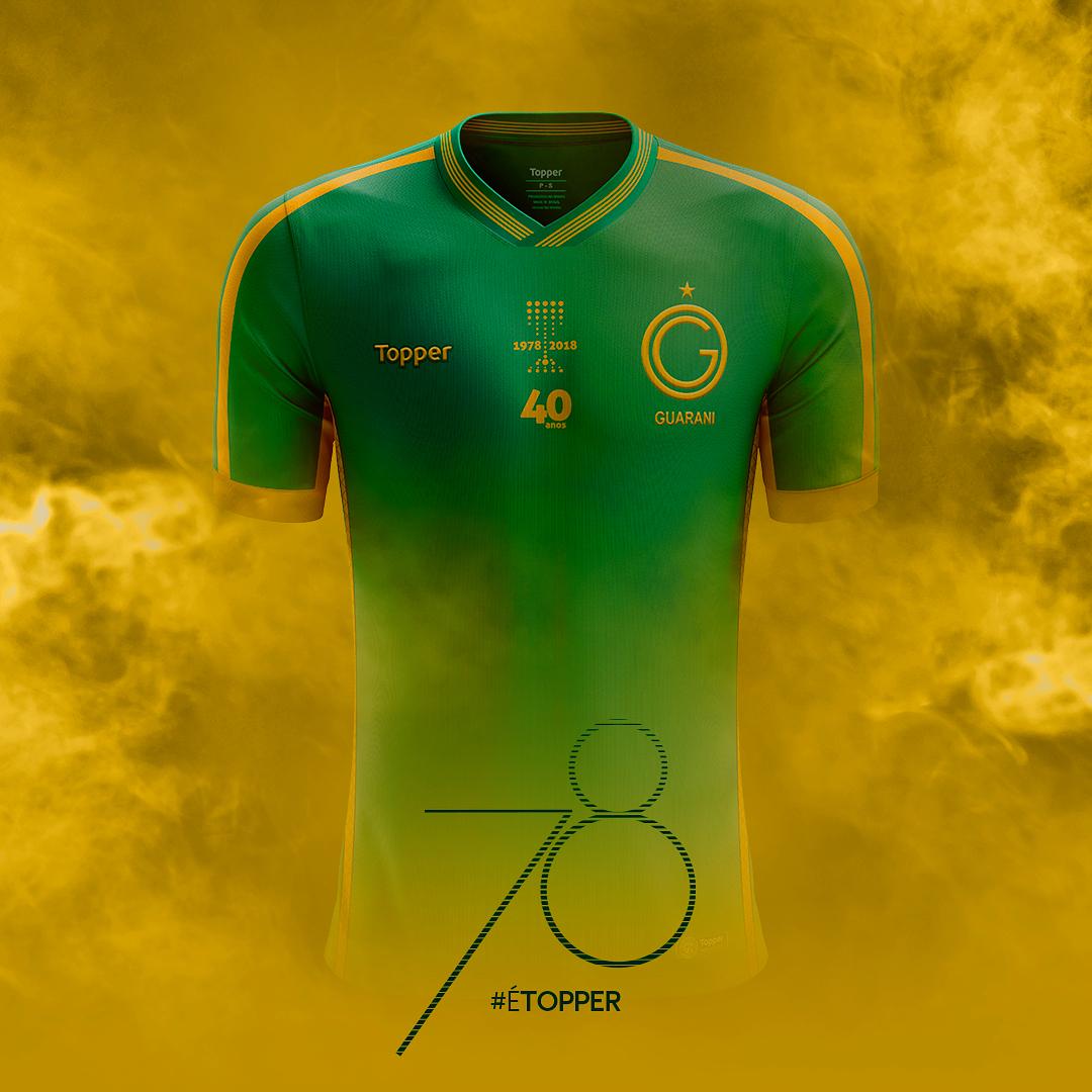 f1ff412ae3 Topper lança camisas comemorativas do Guarani - Show de Camisas