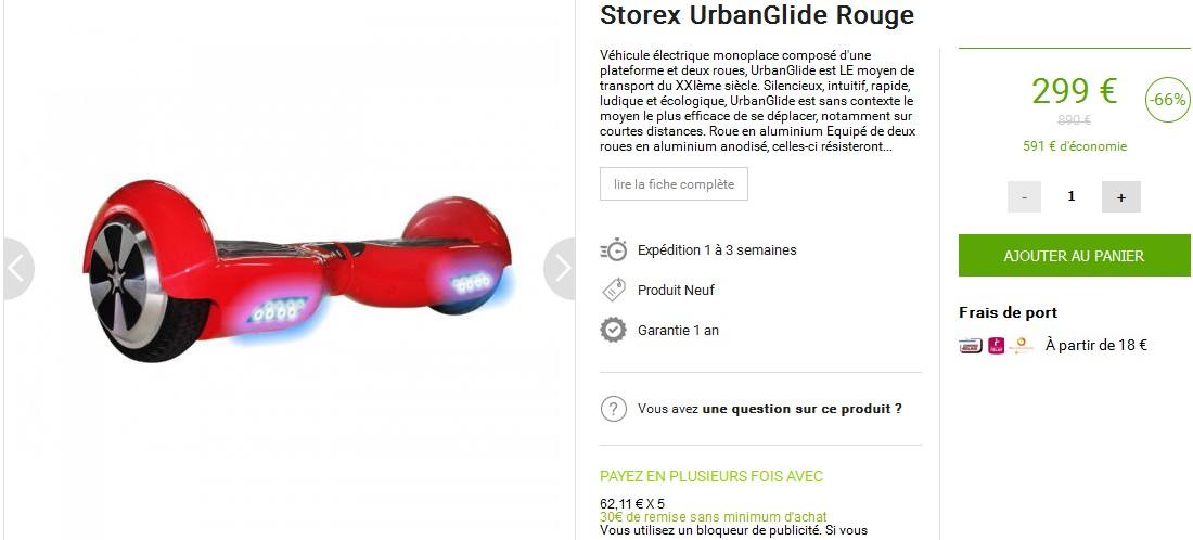 vente privee hoverboard