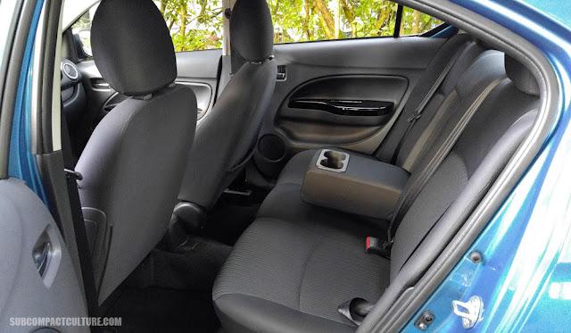 Mitsubishi Mirage G4 back seat