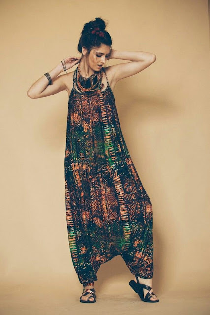 Ornate harem jumpsuit