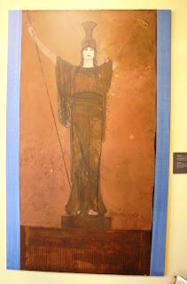 το έργο Παλλάς Αθηνά του Νικόλαου Γύζη στο Μουσείο του Πανεπιστημίου Αθηνών