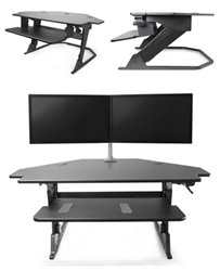 Volante corner ergonomic workstation