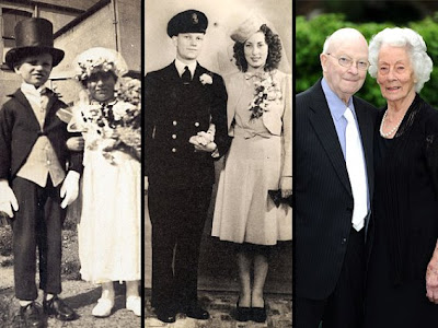 Couple Celebrate Platinum Anniversary 87 Years Posing As Groom And Bride At Age 4