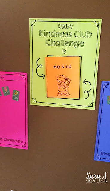 The Kindness Club Challenge is an easy way to focus on ways to be kind.  This can be used at home or in the classroom to teach kindness and positive behavior to young kids.
