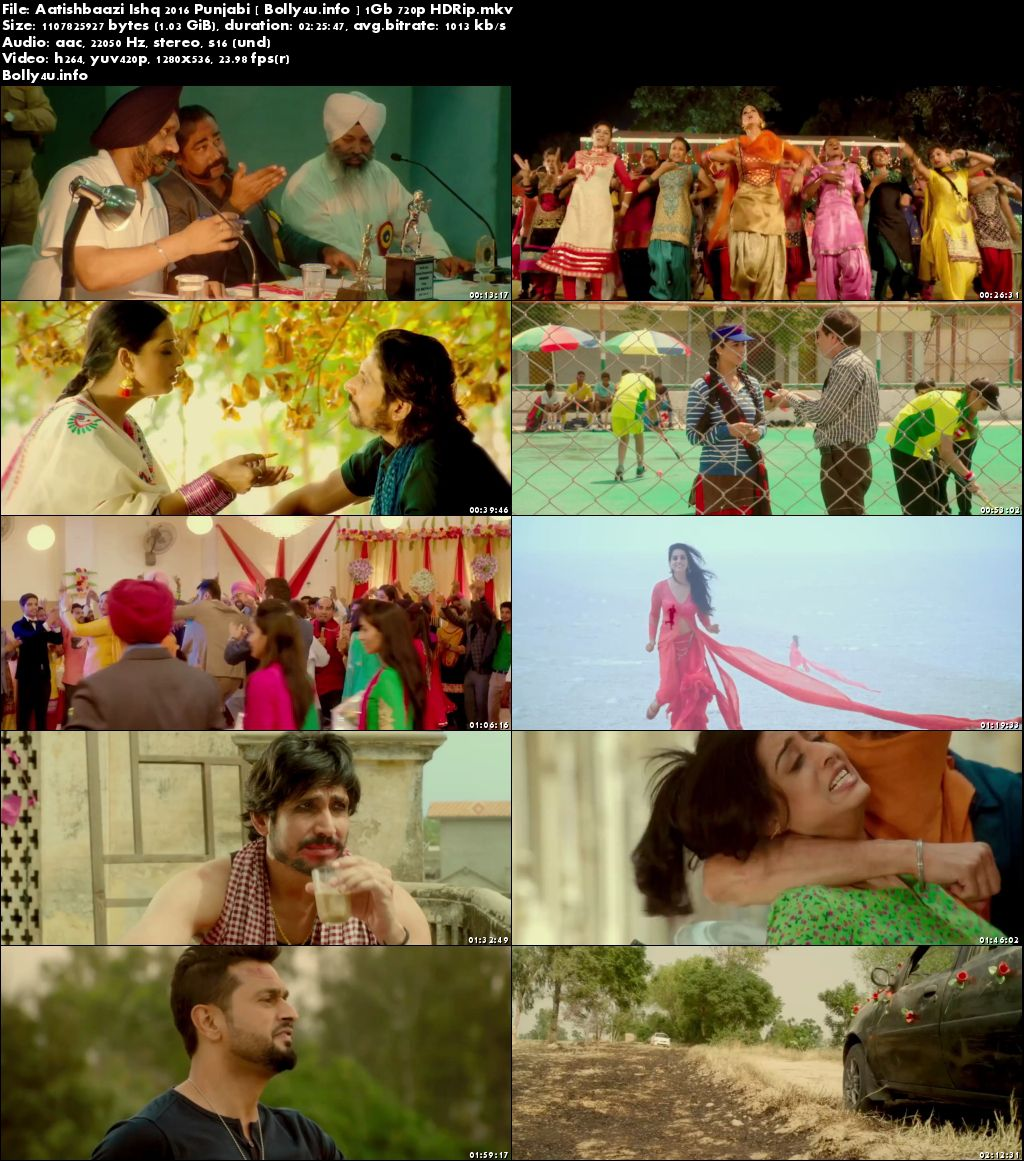Screen Shoots of Watch Online Aatishbaazi Ishq 2016 HDRip 1GB Punjabi Movie 720p Free Download Bolly4u.info