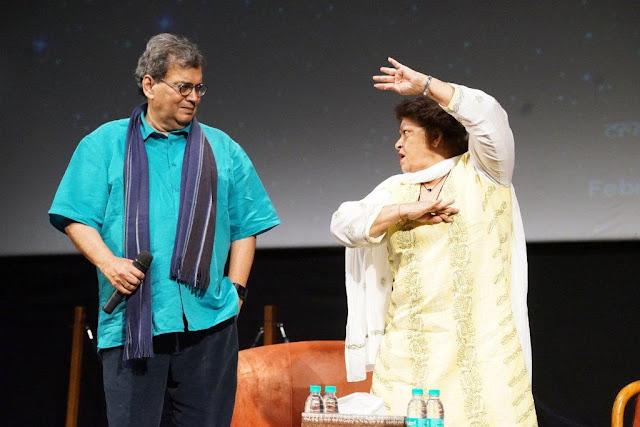 Subhash Ghai with Saroj Khan