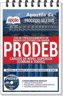 Apostila para Processo Seletivo da PRODEB 2018