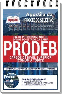 Apostila concurso Prodeb Bahia - Analista de TIC I