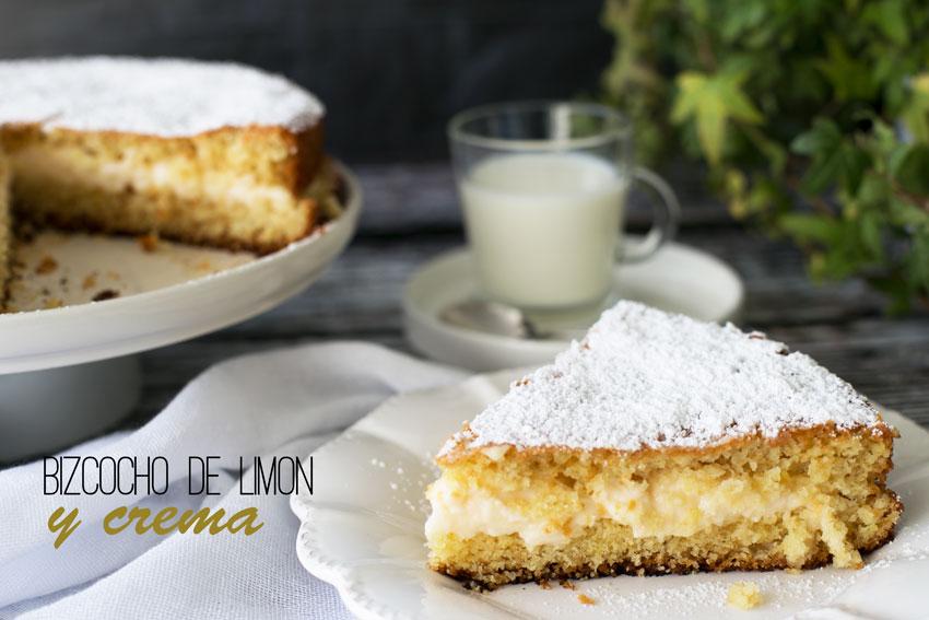 Bizcocho de limon y crema
