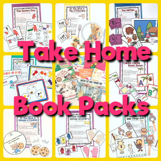 Take Home Book Packs, www.JustTeachy.com