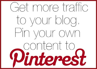 An easy first step to getting more traffic to your blog: start pinning your own content!
