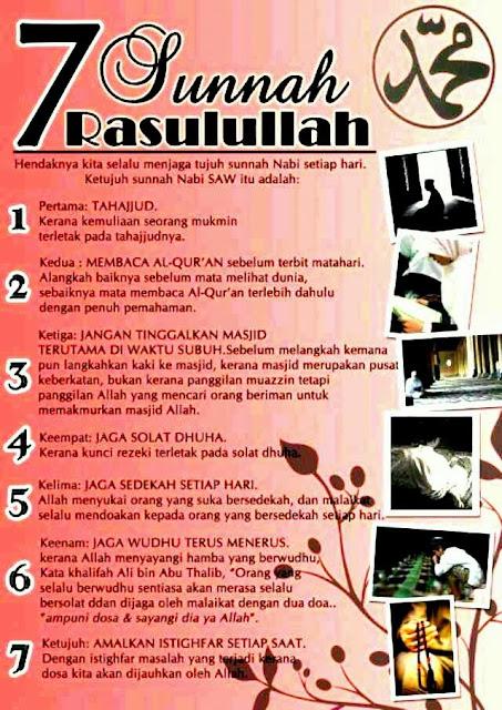 7 Sunnah Rasulullah SAW