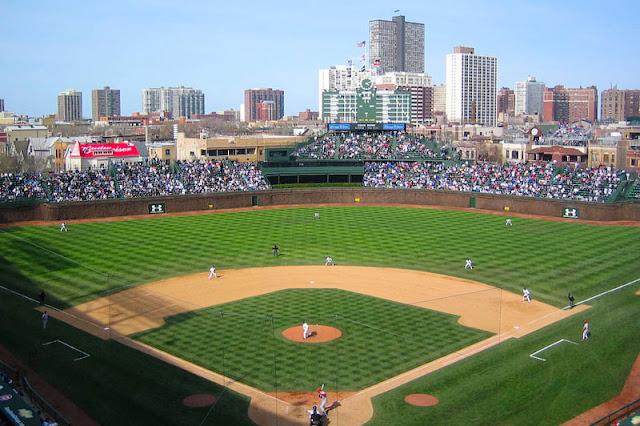 Estádio Wrigley Field em Chicago